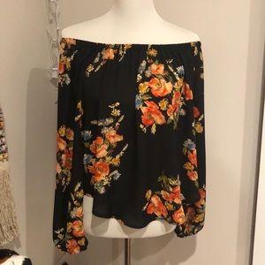 Brand New Off the shoulder floral blouse